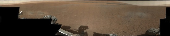 Martian panorama, shot by Curiosity rover